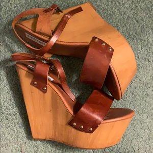 Steve Madden platform wedge ankle strap sandals